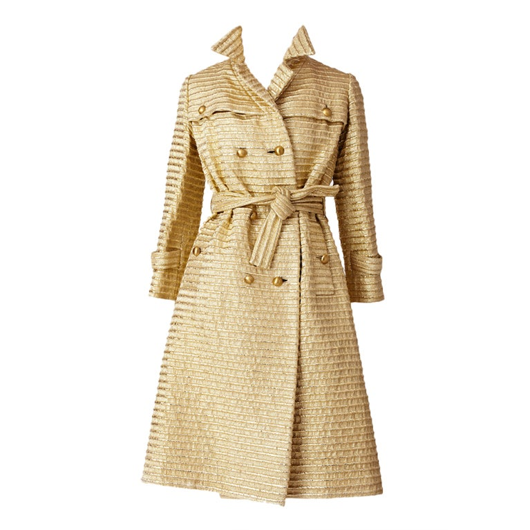 Gold Lurex 60's Trench