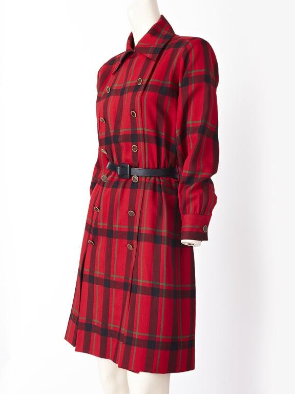 YSl Plaid Day Dress image 2