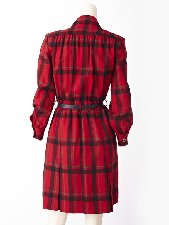 YSl Plaid Day Dress image 3