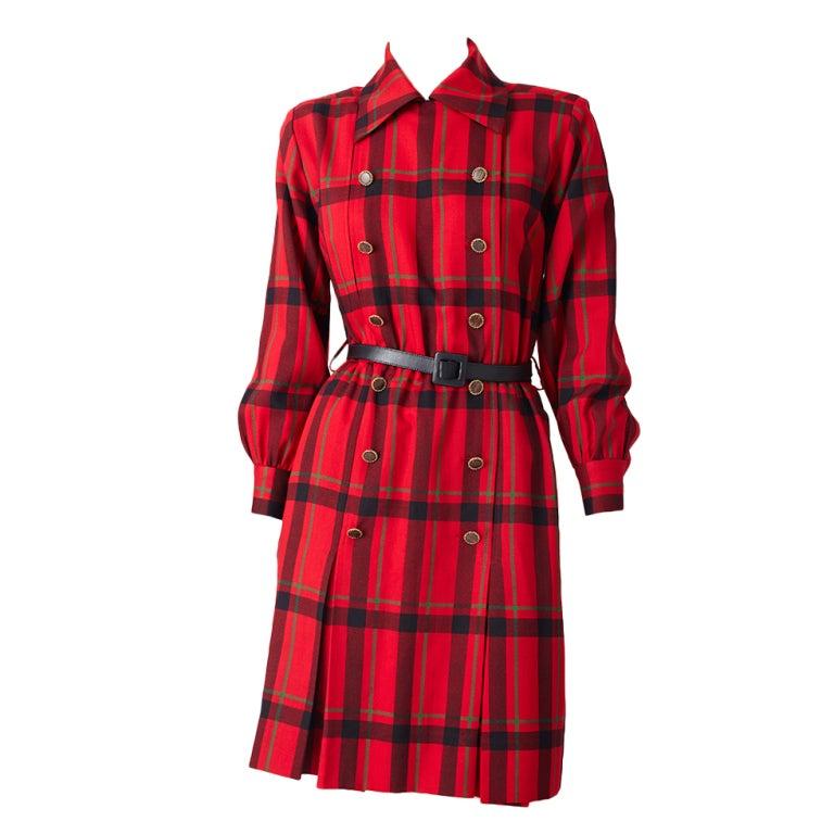 YSl Plaid Day Dress