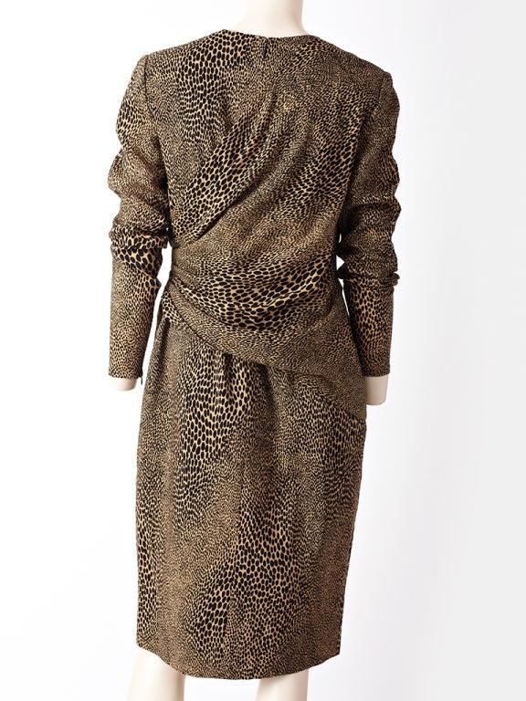 Bill Blass Leopard Print Day Dress At 1stdibs