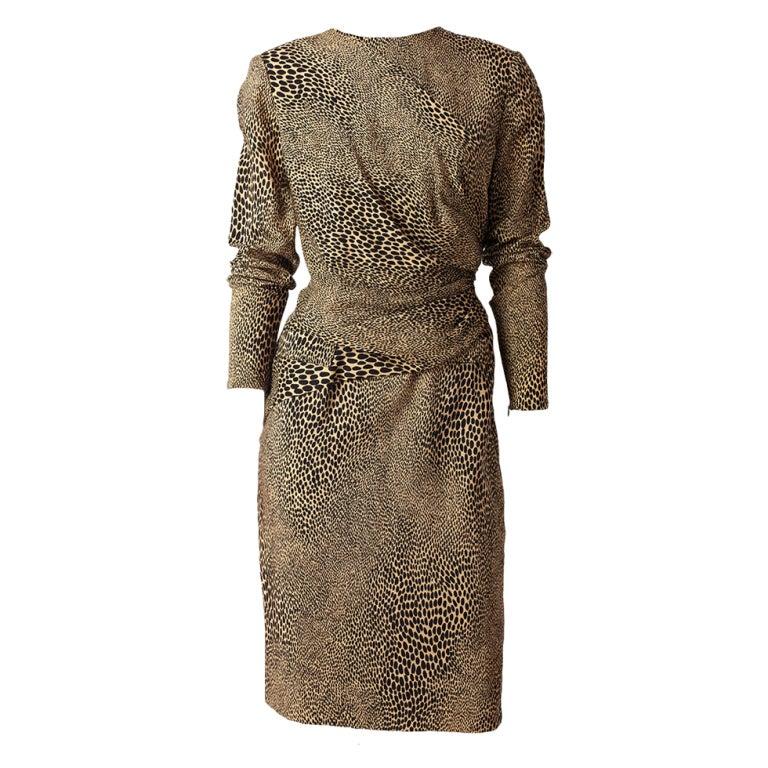 Bill Blass Leopard Print Day Dress