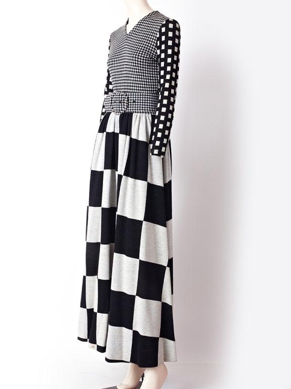Rudi Gernreich Graphic Pattern  Maxi Dress 2