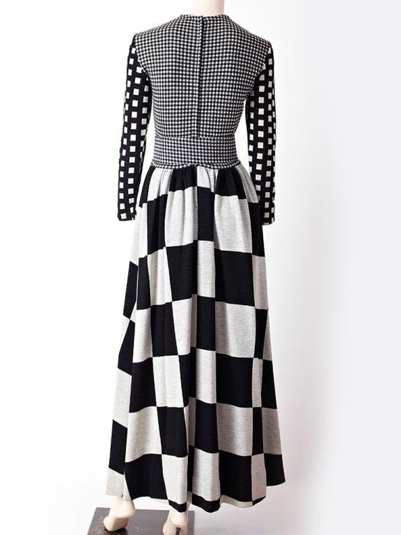 Rudi Gernreich Graphic Pattern  Maxi Dress 3