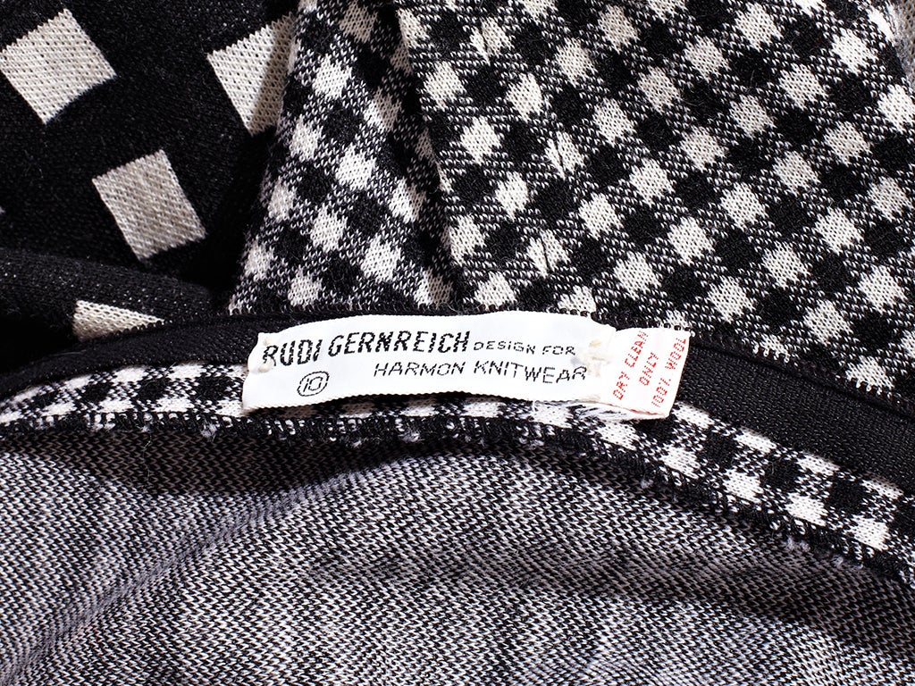 Rudi Gernreich Graphic Pattern  Maxi Dress 4