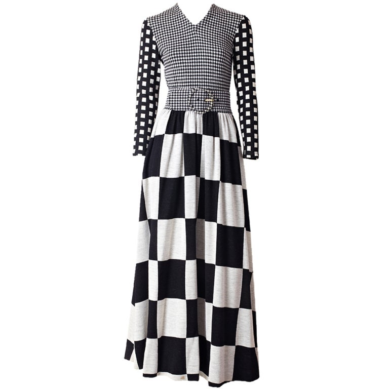 Rudi Gernreich Graphic Pattern  Maxi Dress 1