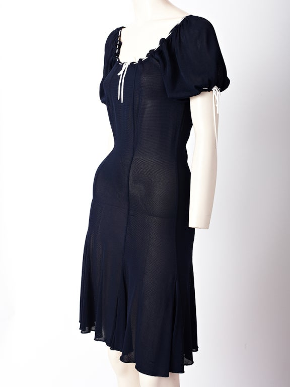 Chanel Tricot Peasant Style Dress 2