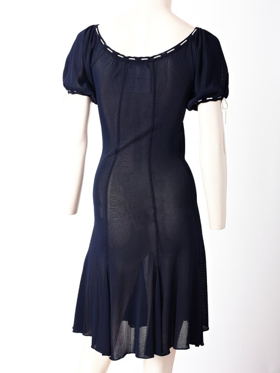 Chanel Tricot Peasant Style Dress 3