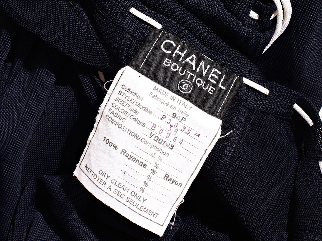 Chanel Tricot Peasant Style Dress 4