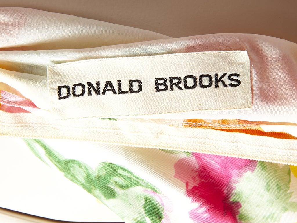 Donald Brooks Floral Print Halter Dress 5