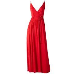 Scott Barrie Jersey Wrap Dress