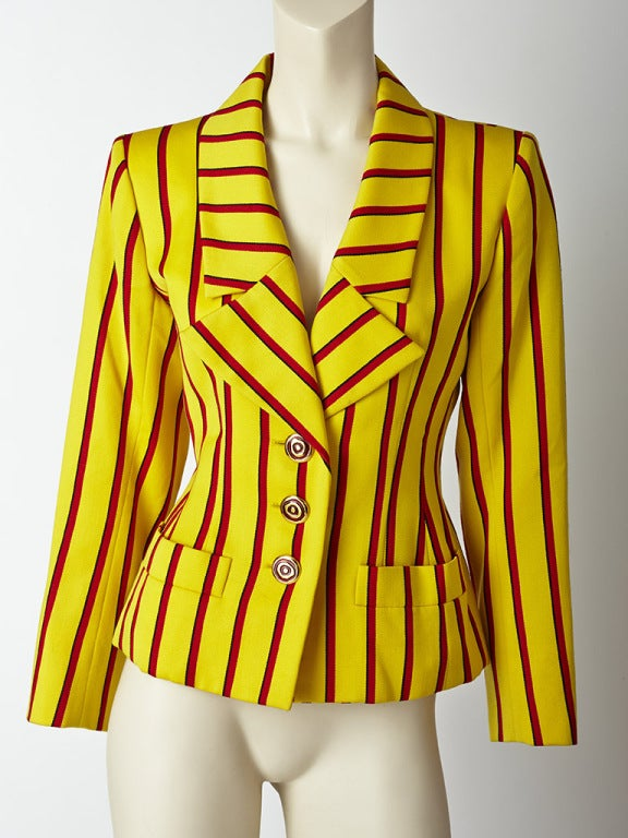 Yves Saint Laurent Stripe jacket 2