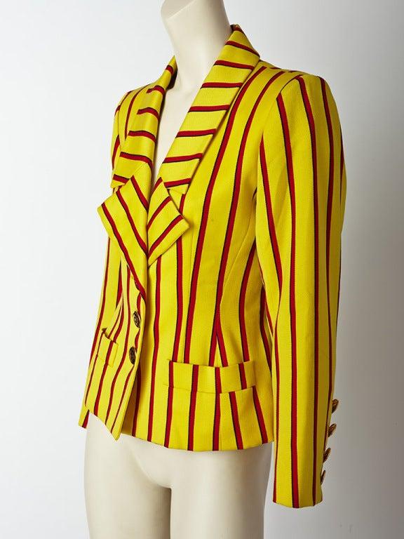 Yves Saint Laurent Stripe jacket 3
