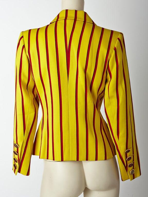 Yves Saint Laurent Stripe jacket 4