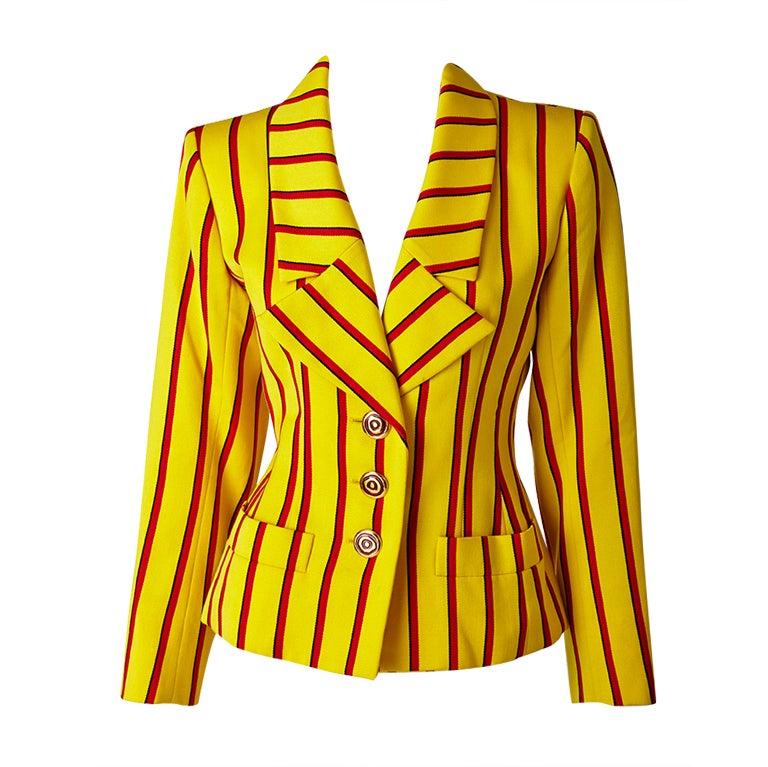 Yves Saint Laurent Stripe jacket 1