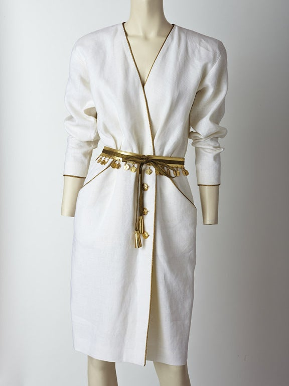 Yves Saint Laurent Linen Day Dress image 2