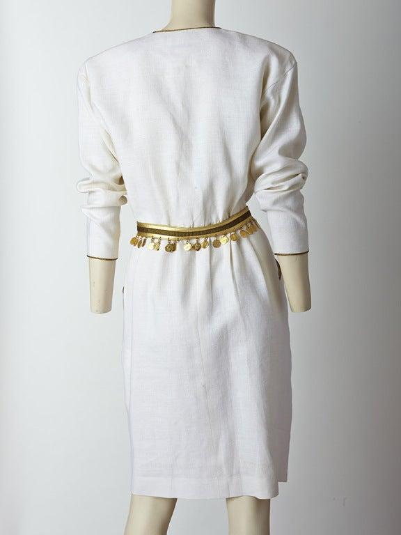 Yves Saint Laurent Linen Day Dress image 4