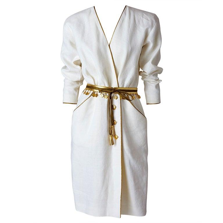 Yves Saint Laurent Linen Day Dress
