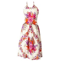 Givenchy Floral Print Halter Dress