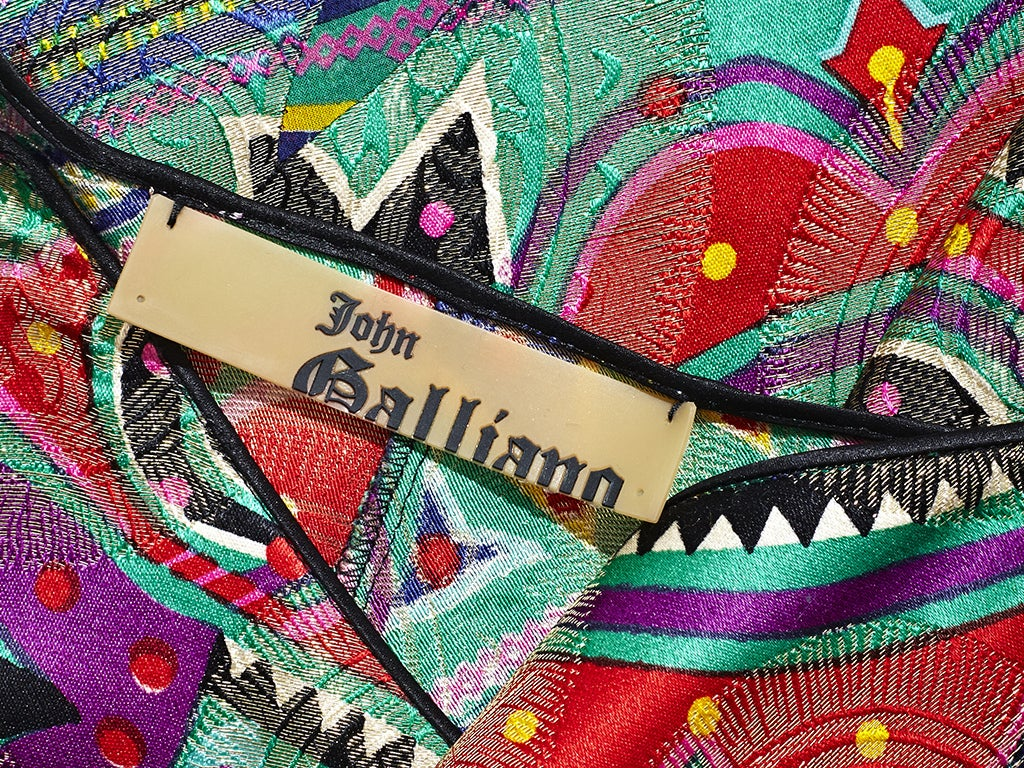 John Galliano Colorful Bell Bottom Pants image 5