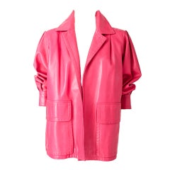 Yves St. Laurent Fuchsia leather Jacket
