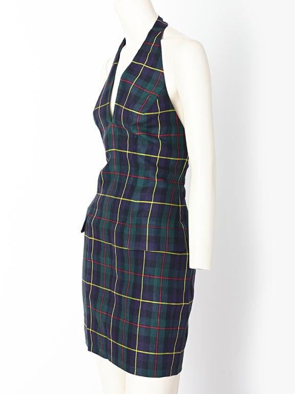 MW Moss Linen Halter Dress 2