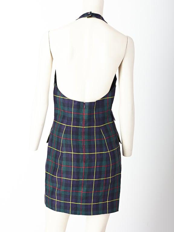 MW Moss Linen Halter Dress 3