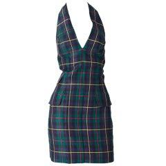 MW Moss Linen Halter Dress