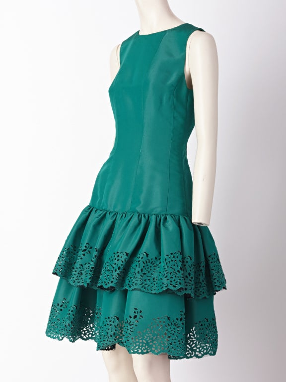 Oscar de la Renta Taffeta Cocktail Dress 2