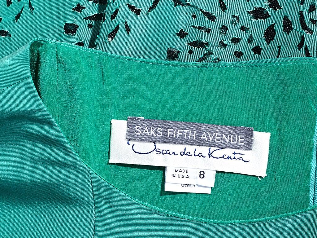 Oscar de la Renta Taffeta Cocktail Dress 4