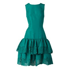 Oscar de la Renta Taffeta Cocktail Dress