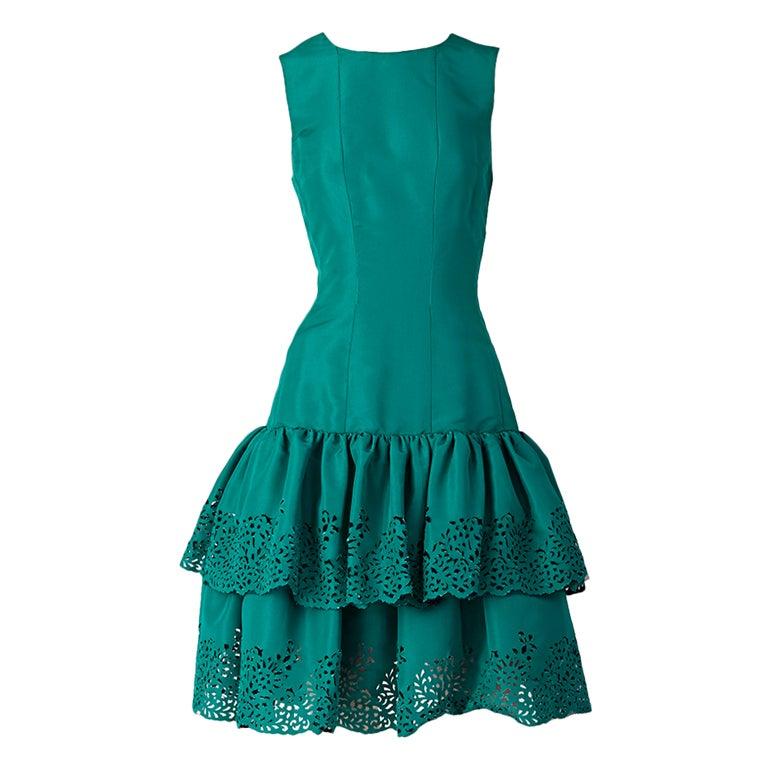 Oscar de la Renta Taffeta Cocktail Dress