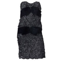 Givenchy Ribbon lace and Velvet cocktail Dress