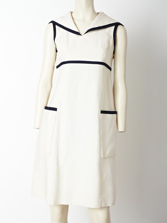 26d9cb96ea Geoffrey Beene Linen Midi Dress at 1stdibs