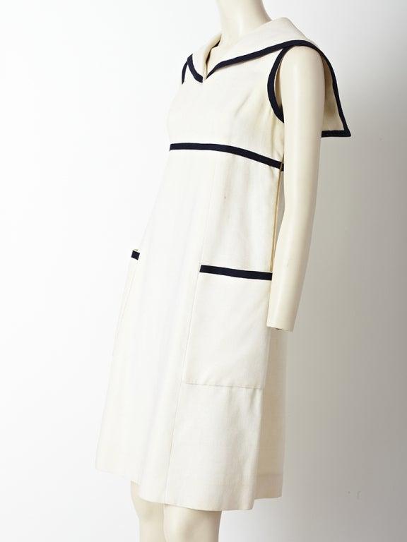 cde07fe478 Beige Geoffrey Beene Linen Midi Dress For Sale