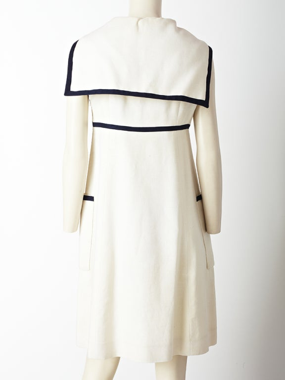 7e50ce96df Geoffrey Beene Linen Midi Dress In Excellent Condition For Sale In New  York