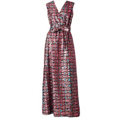 Oscar de la Renta Sequined Gown