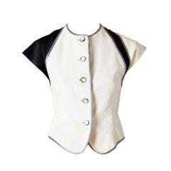 Goefrrey Beene Fitted Short Sleeve Jacket