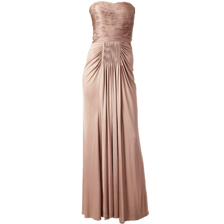 Oscar de la Renta Grecian Inspired Jersey Gown For Sale