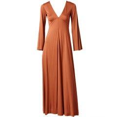Scott Barrie Matte Jersey Maxi Dress