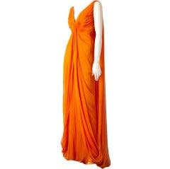 Carolyne Roehm Grecian Inspired Chiffon Gown