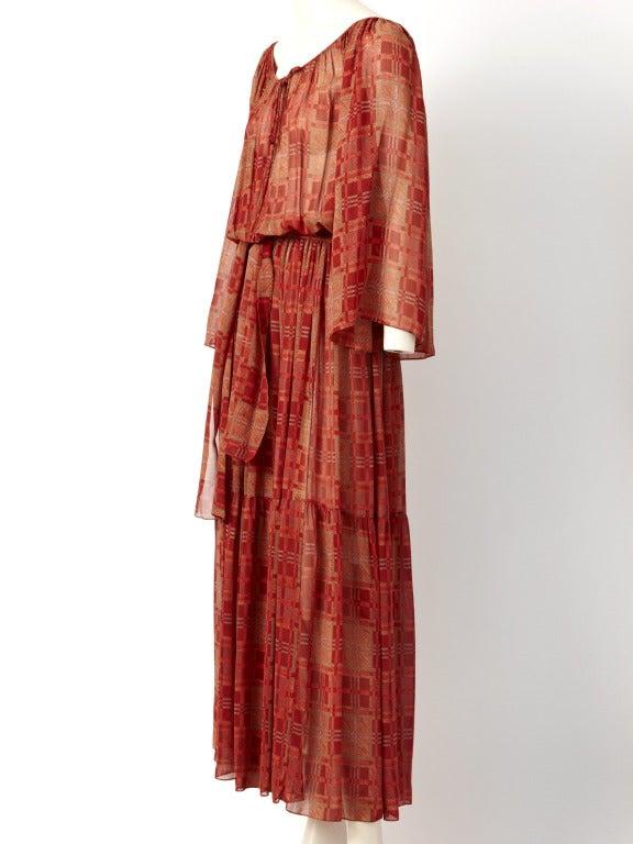 Chiffon 1970's Boho Dress 3