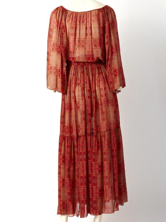 Chiffon 1970's Boho Dress 4