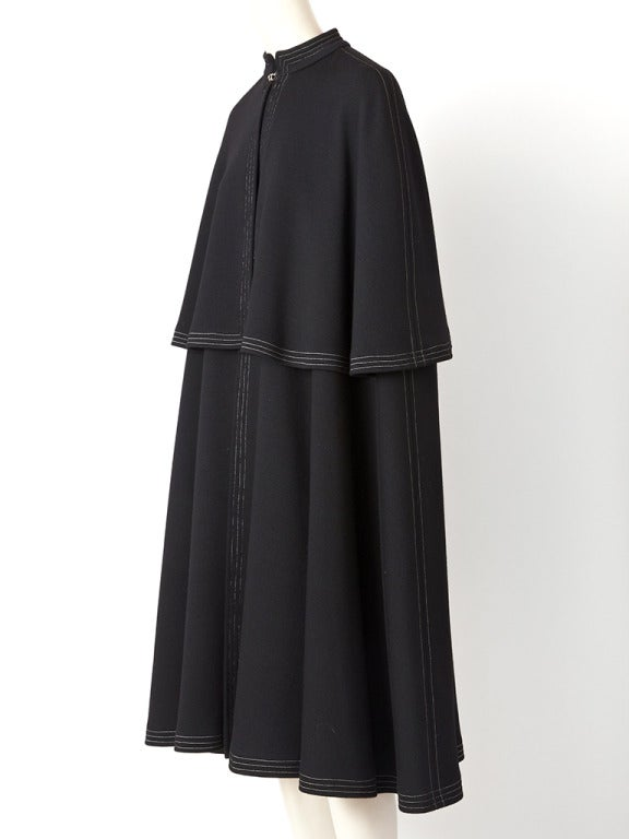 Black Sibley- Coffee Tiered Cape For Sale