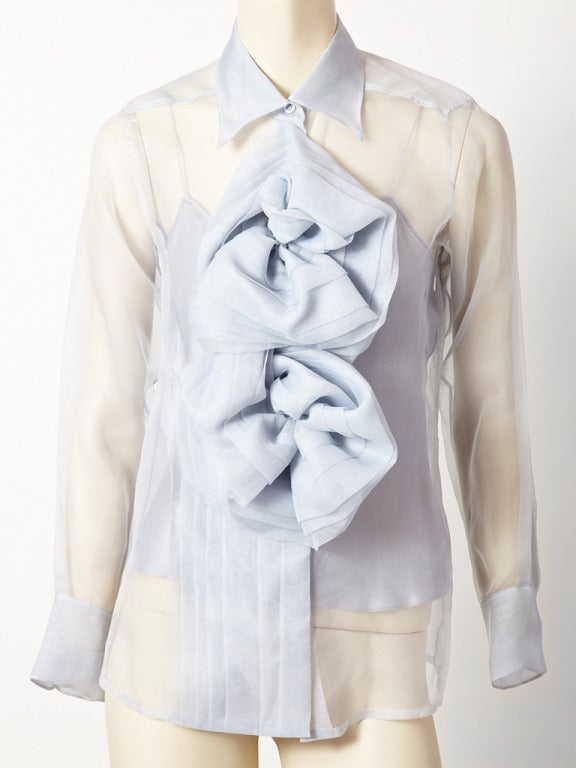 John Galliano for Christian Dior Organza Blouse 2