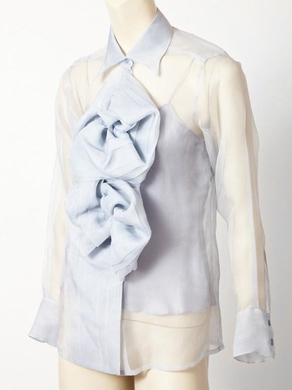 John Galliano for Christian Dior Organza Blouse 3