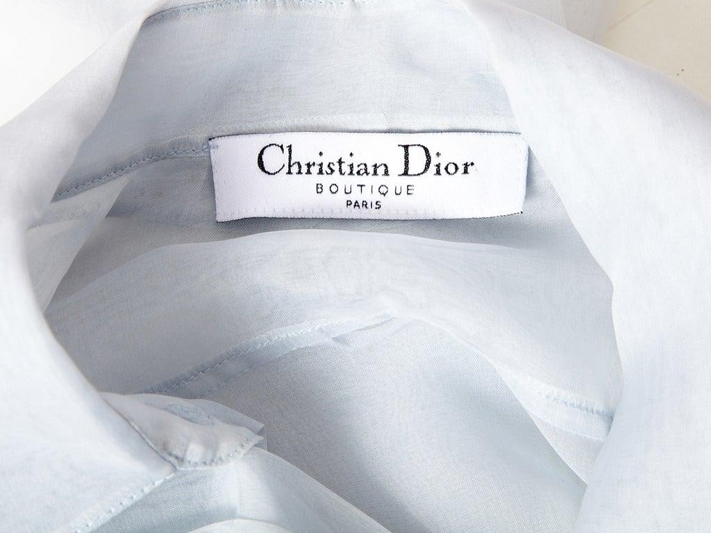 John Galliano for Christian Dior Organza Blouse 5