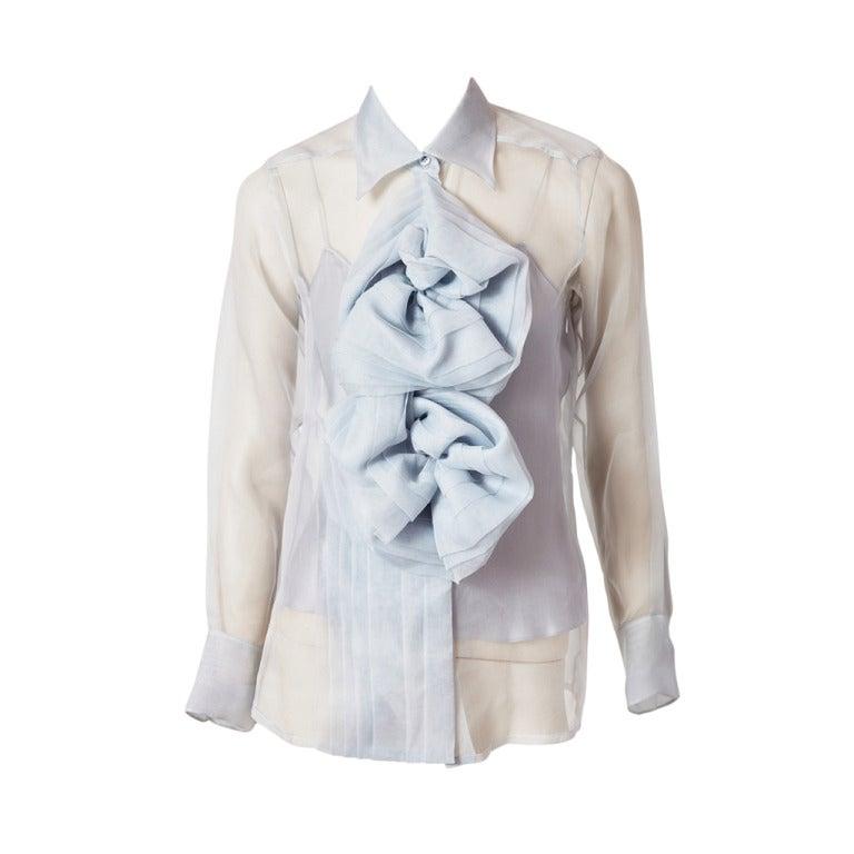 John Galliano for Christian Dior Organza Blouse 1
