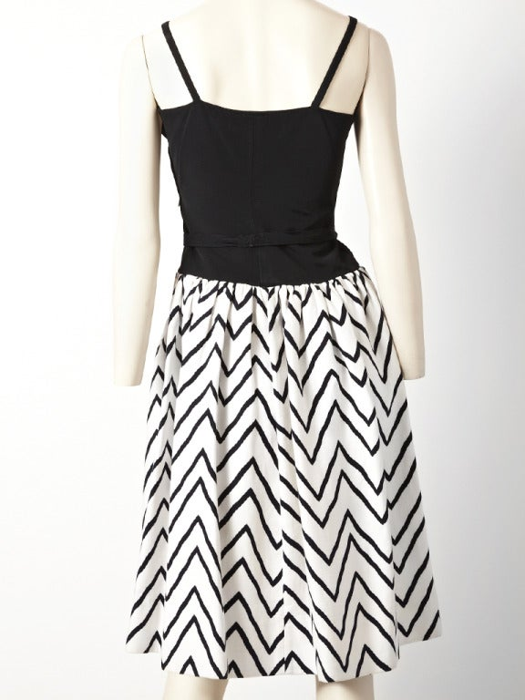 YSL Graphic Print Dress In Excellent Condition For Sale In New York, NY