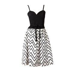 YSL Graphic Print Dress